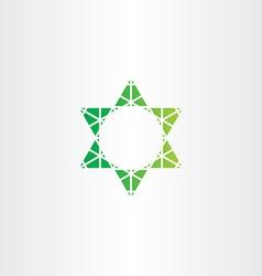 Eco green star icon sign vector