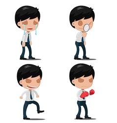 Man Worker Action Emotion Set vector image vector image