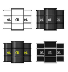 oil barrel icon in cartoon style isolated on white vector image vector image