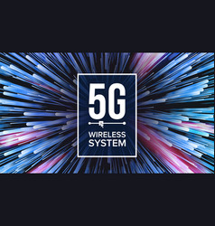 5g wi-fi standard background five 5th vector image