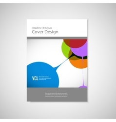 Abstract bright simple technology brochure vector