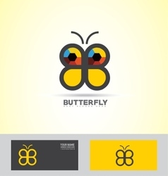 Abstract butterfly logo icon vector