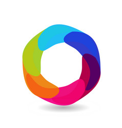 abstract circle with different shades of circle vector image