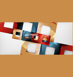 abstract geometric background glossy square vector image