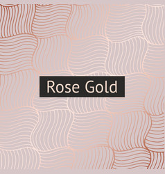 abstract pattern with rose gold imitation for vector image