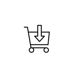 add to cart shopping icon vector image