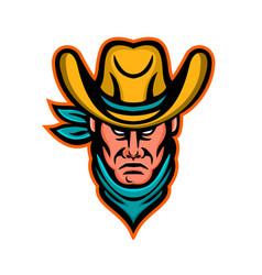 american cowboy sports mascot vector image