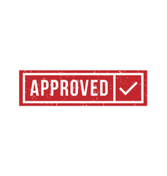 approved rubber stamp isolated texture vector image