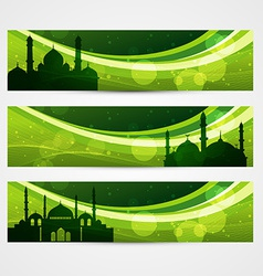 beautiful ramadan headers vector image