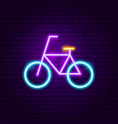 bicycle neon label vector image