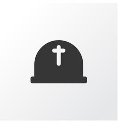 cemetery icon symbol premium quality isolated vector image