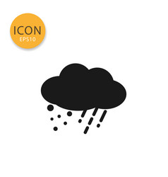 cloud with rain and snow with cloud icon isolated vector image