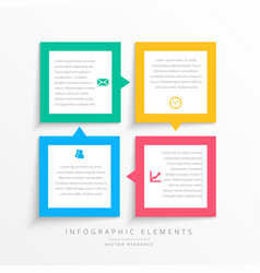colorful business infographics steps frame vector image