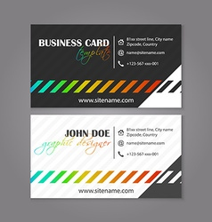 Corporate business card template Creative card for vector