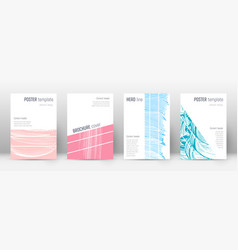 Cover page design template geometric brochure vector