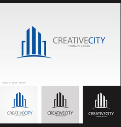 creative city logo vector image