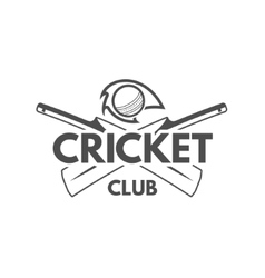 Cricket team emblem and design elements vector image vector image