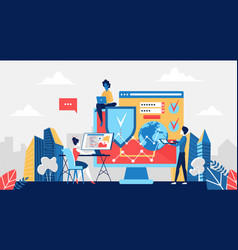 Cyber security concept antivirus software vector