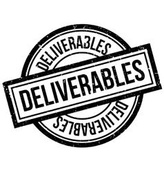 Deliverables rubber stamp vector