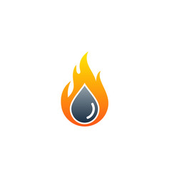 drop fire logo icon design vector image