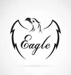 Eagle design on white background vector image