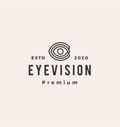 Eye vision hipster vintage logo icon vector