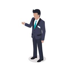faceless cartoon businessman in suit vector image