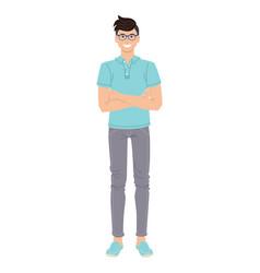 fashion guy isolated on white background vector image