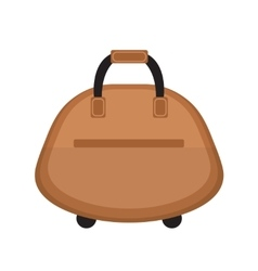 Female travel bag icon flat style Women isolated vector