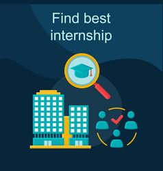 Find best internship flat concept icon vector