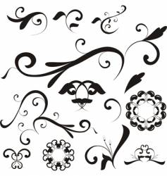 Floral shapes and ornaments vector