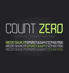 futuristic display font design alphabet character vector image