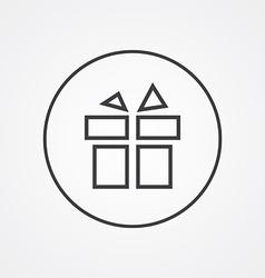 gift outline symbol dark on white background logo vector image