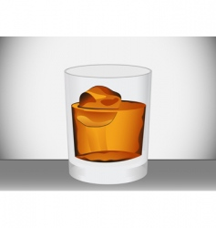 Glass whiskey vector