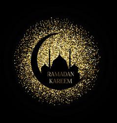 Gold ramadan kareem background vector