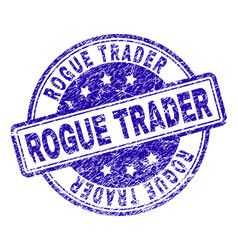 Grunge textured rogue trader stamp seal vector
