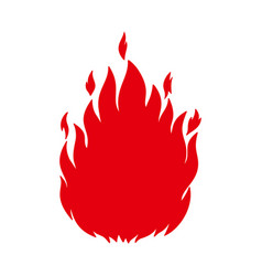 hand drawn fire design element for poster card vector image