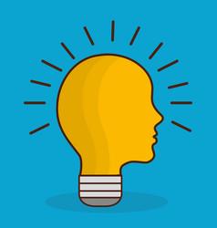 Head with bulb icon vector