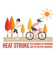 Heat stroke the dangers of working vector