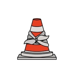 Isolated toy cone damaged design vector image