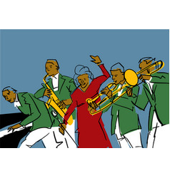Jazz band colorful vector
