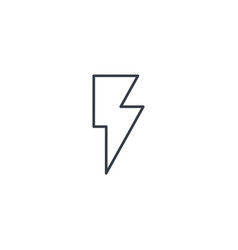 lightning electricity thin line icon linear vector image