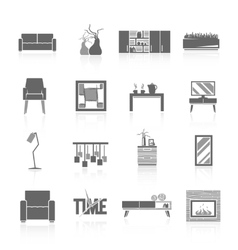 Living Room Icons Set vector image