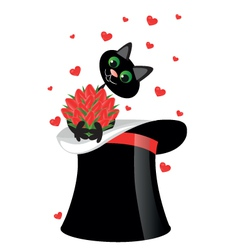 magic cat vector image