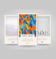 modern colorful vertical banners abstract flyer vector image