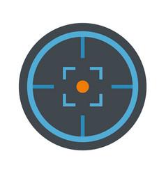 modern gun target icon flat style vector image
