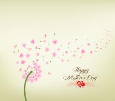 mothers day Blossom dandelions vintage vector image