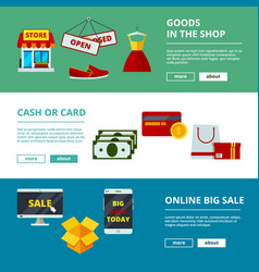 online shopping banners e-commerce web store vector image