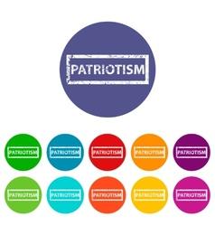 Patriotism flat icon vector