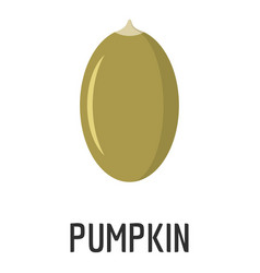 pumpkin seed icon flat style vector image